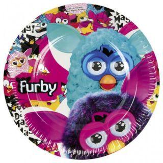 Farfurii petrecere copii 23 cm Furby, Amscan , Set 8 buc