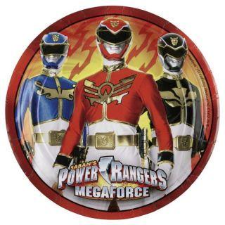Farfurii petrecere copii 23 cm Power Rangers, Amscan , Set 8 buc
