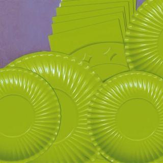 Farfurii verzi 23 cm pentru petreceri, Radar , Set 10 buc