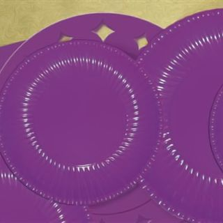 Farfurii violet 23 cm pentru petreceri, Radar , Set 10 buc