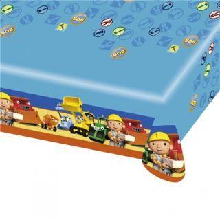 Fata de masa din plastic pentru petrecere copii - Bob the Builder, 180 x 120 cm, Amscan
