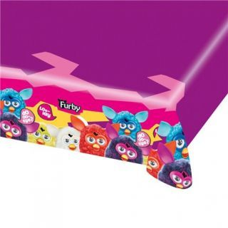 Fata de masa din plastic pentru petrecere copii - Furby, 180 x 120 cm, Amscan