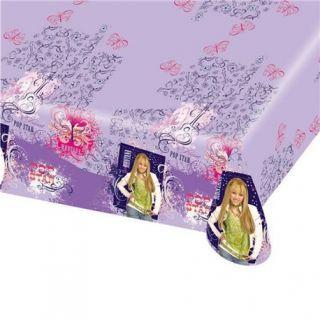 Fata de masa din plastic pentru petrecere copii - Hannah Montana, 180 x 120 cm