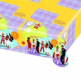 Fata de masa din plastic pentru petrecere copii - High School, 180 x 120 cm, Amscan 551384, 1 buc