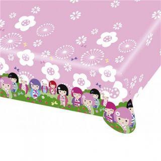 Fata de masa din plastic pentru petrecere copii - Kimmi Junior, 180 x 120 cm