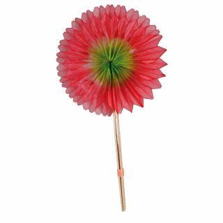Floare din hartie cu bat - 14 cm, Radar
