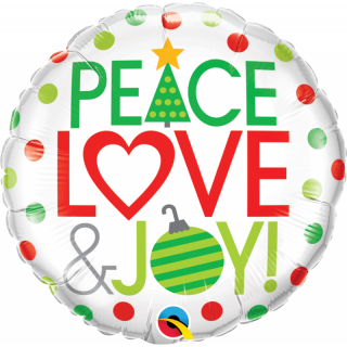 Folie 45 cm Peace, Love & Joy
