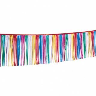 Ghirlanda decorativa din folie multicolora pentru petrecere