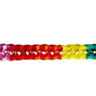 Ghirlanda decorativa hartie multicolora - 3 m, Radar