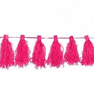 Ghirlanda pampoane roz 30 cm x 3 m, Amscan