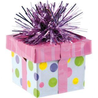Greutate pentru baloane forma cadou - multicolor, Amscan