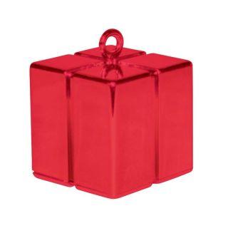 Greutate pentru baloane forma cadou rosu - 110 g, Qualatex