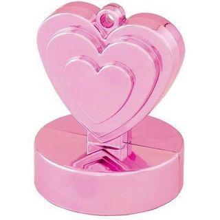 Greutate pentru baloane forma inima - roz, 110 g, Qualatex