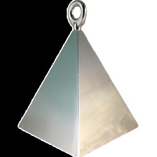 Greutate pentru baloane forma piramida - argintiu, 150 g, Qualatex