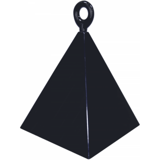 Greutate pentru baloane forma piramida neagra - 110 g, Qualatex