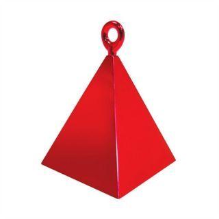 Greutate pentru baloane forma piramida - rosu, 110 g, Qualatex