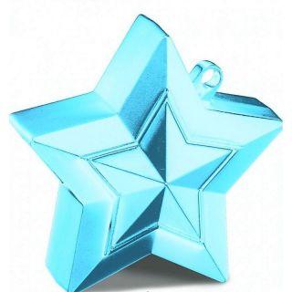 Greutate Stea Light Blue pentru Baloane cu Heliu, 150 g, Qualatex
