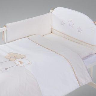 Albero Mio by Klups set lenjerie brodata 3 piese Star Dream - beige H185