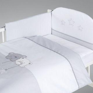 Albero Mio set lenjerie brodata 2 piese Star Dream alb-grey H186