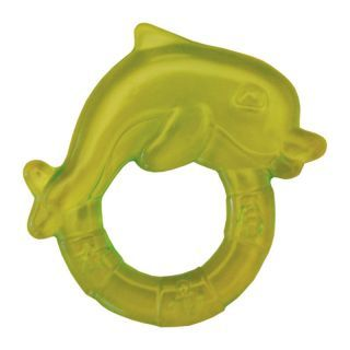 Inel de dentitie cu gel 3L+ Delfin verde Sunny baby
