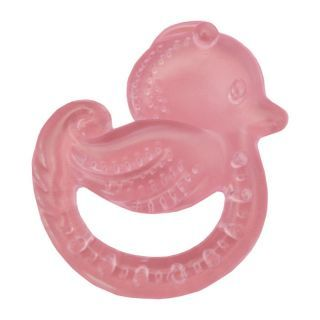 Inel de dentitie cu gel 3L+ Ratusca roz Sunny baby