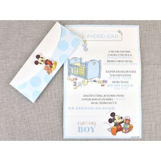 Invitatie Botez Mickey Mouse, COD 15719DLC