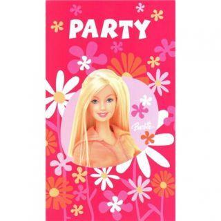 Invitatii de petrecere Barbie, Amscan
