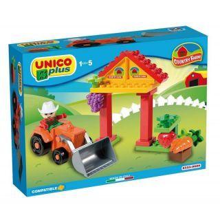 Joc de construit Unico Country Farm 21 piese A Haberkorn
