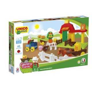 Joc de construit Unico Country Farm 46 piese A Haberkorn