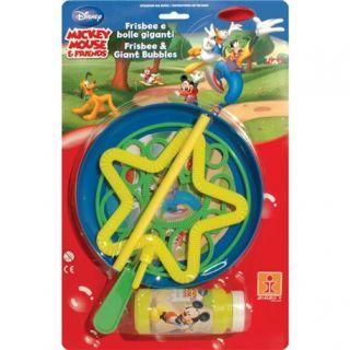 Joc party Mickey Mouse, Frisbee & Baloane de Sapun Gigant, Dulcop