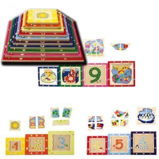Joc puzzle Piramidix Beleduc