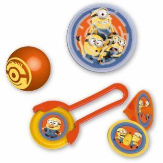 Set party Minioni, 24 buc. (disc zburator, minge, titirez, puzzle pinball), Amscan