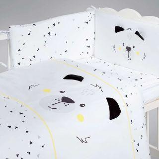 Albero Mio set lenjerie imprimata satinata 5 piese - K084 Funny Teddy Bear