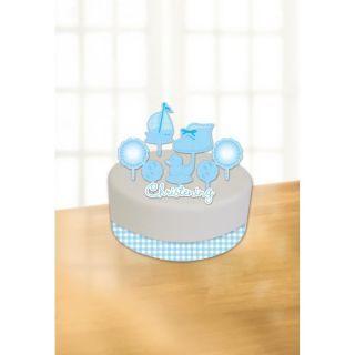 Kit decor tort botez baiat, Amscan