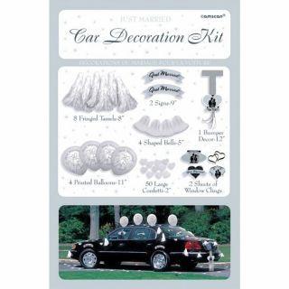 Kit decorare masina pentru nunta, Amscan