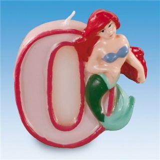 Lumanare aniversara Cifra 0 pentru tort cu Printese Disney, Amscan, 1 buc