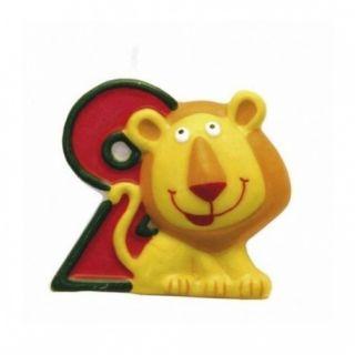 Lumanare aniversara Cifra 2 pentru tort Safari Lion, Amscan, 1 buc
