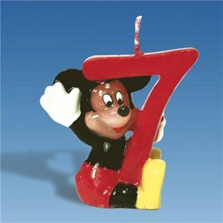 Lumanare aniversara Cifra 7 pentru tort cu Mickey Mouse, Amscan, 1 buc