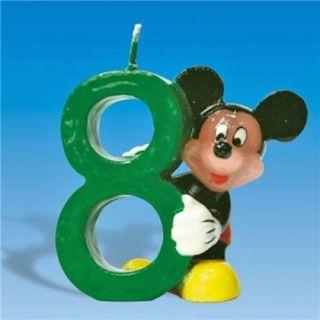 Lumanare aniversara Cifra 8 pentru tort cu Mickey Mouse, Amscan, 1 buc