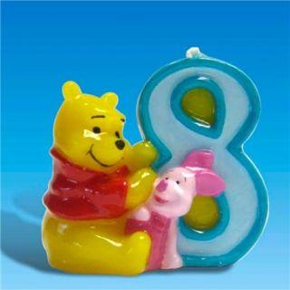 Lumanare aniversara Cifra 8 pentru tort cu Winnie the Pooh, Amscan, 1 buc