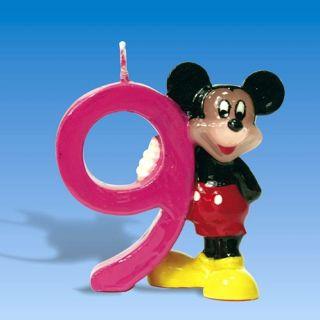 Lumanare aniversara Cifra 9 pentru tort cu Mickey Mouse, Amscan