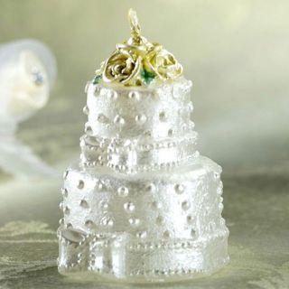 Lumanare aniversara in forma de tort pentru nunta, Amscan, 1 buc