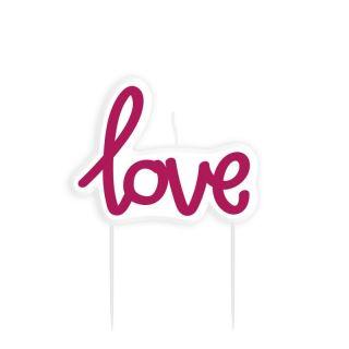 Lumanare figurina Love 8.9 cm