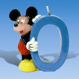 Lumanare pentru tort - Cifra 0 cu Mickey Mouse, Amscan