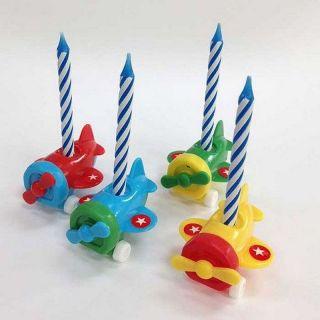 Lumanari aniversare cu suporti figurine, Amscan, Set 6 buc