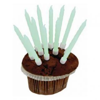 Lumanari aniversare fluorescente pentru tort, Amscan, Set 10 buc