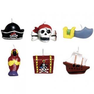 Lumanari aniversare pentru tort cu Pirati, Amscan, Set 6 buc