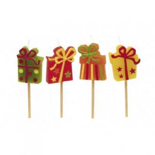 Lumanari aniversare pentru tort minifigurine cadou, Amscan, Set 4 buc