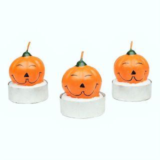 Lumanari Halloween forma dovleac, Radar, set 3 bucati
