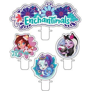 Lumanari pentru tort figurine Enchantimals, Amscan, Set 4 buc
